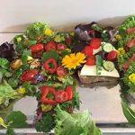 Vegane Blumen Schnitten