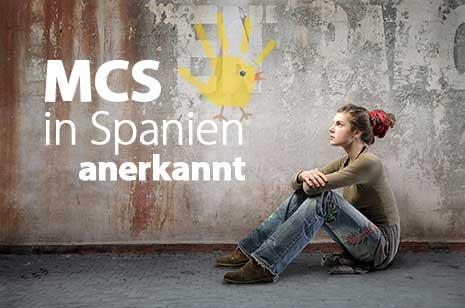 Umweltkrankheit MCS ist in Spanien jetzt anerkannt.