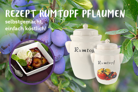 Rezept für Rumtopf Pflaumen